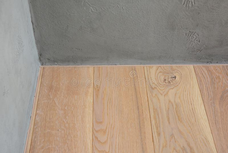Hardwood Flooring Without Skirting Boards Stock Image Of Home