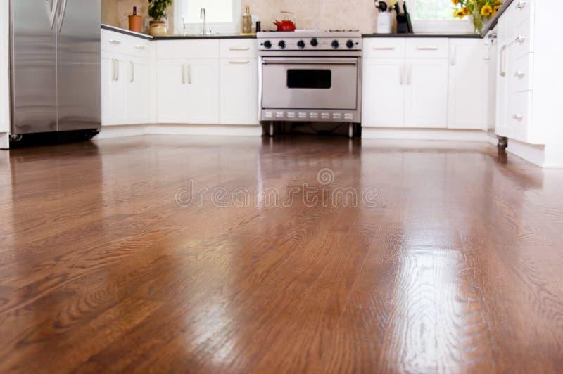 Hardwood floors stock photo