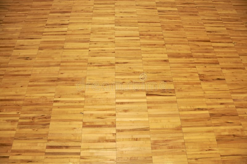 Hardwood Gym Floor. Maple hardwood gym floor suitable for background and texture application stock image