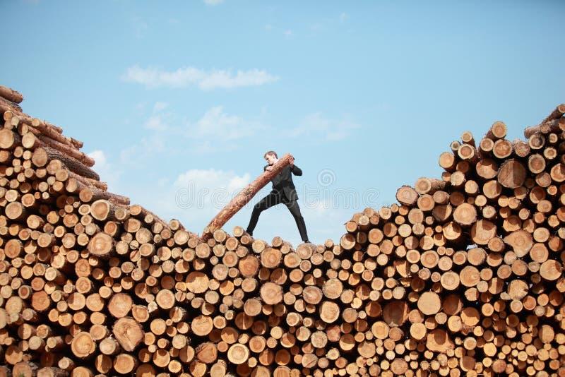 Hardworking business man - metaphor royalty free stock photos