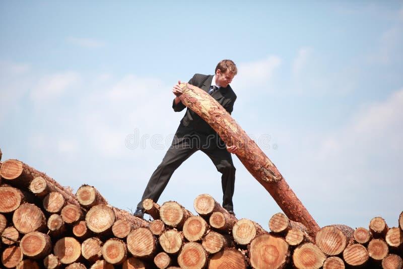 Hardworking business man - metaphor stock photography