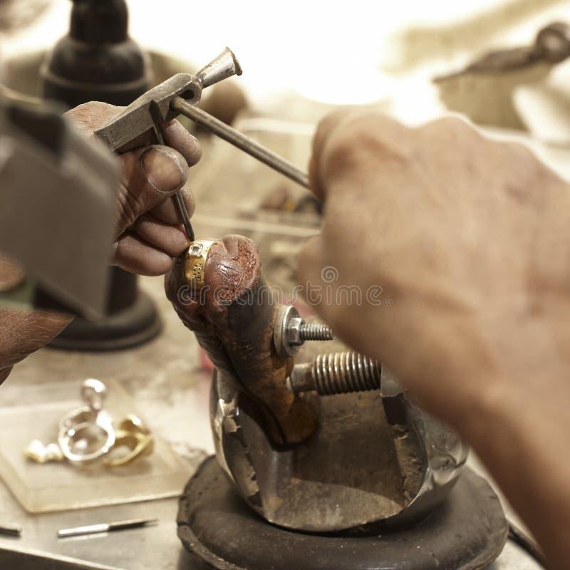Free Hardworking Goldsmith Royalty Free Stock Photo - 17942065