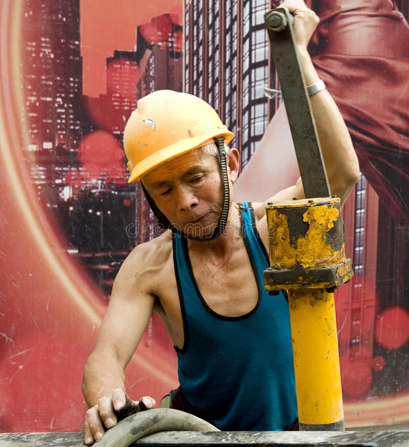 Download Hardworking laborer stock photo. Image of male, chinese - 24886850