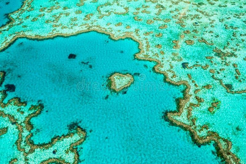 Hardy Reef, Hartertsader van de lucht royalty-vrije stock afbeeldingen