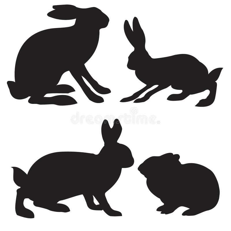 Hare royalty free illustration