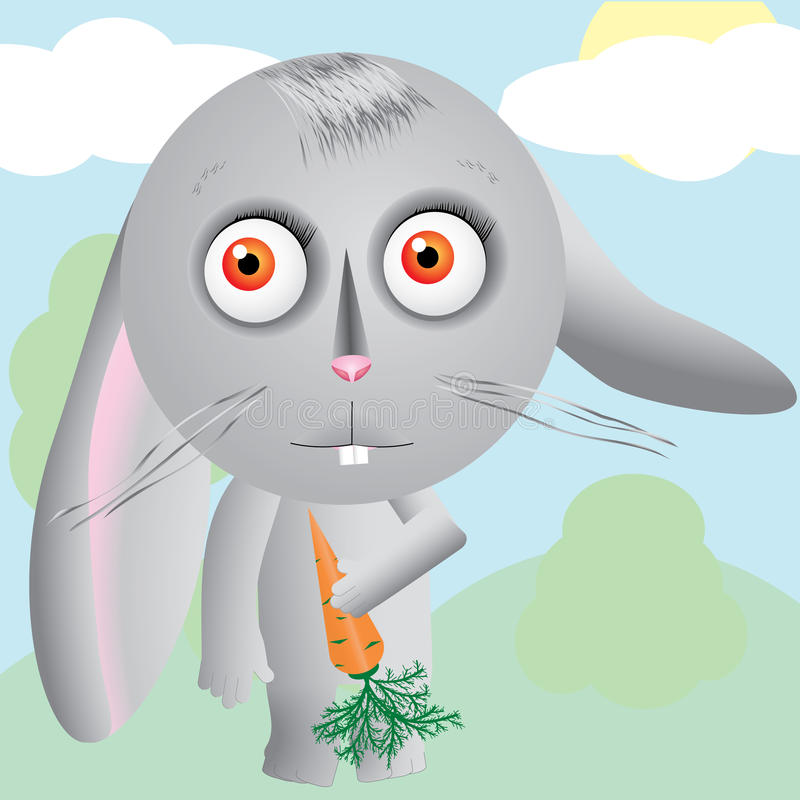 Download Hare stock vector. Illustration of mascot, pitiful, cute - 14762725