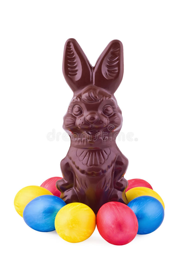 Free Hare And Bright Easter Eggs Stock Photography - 18690702