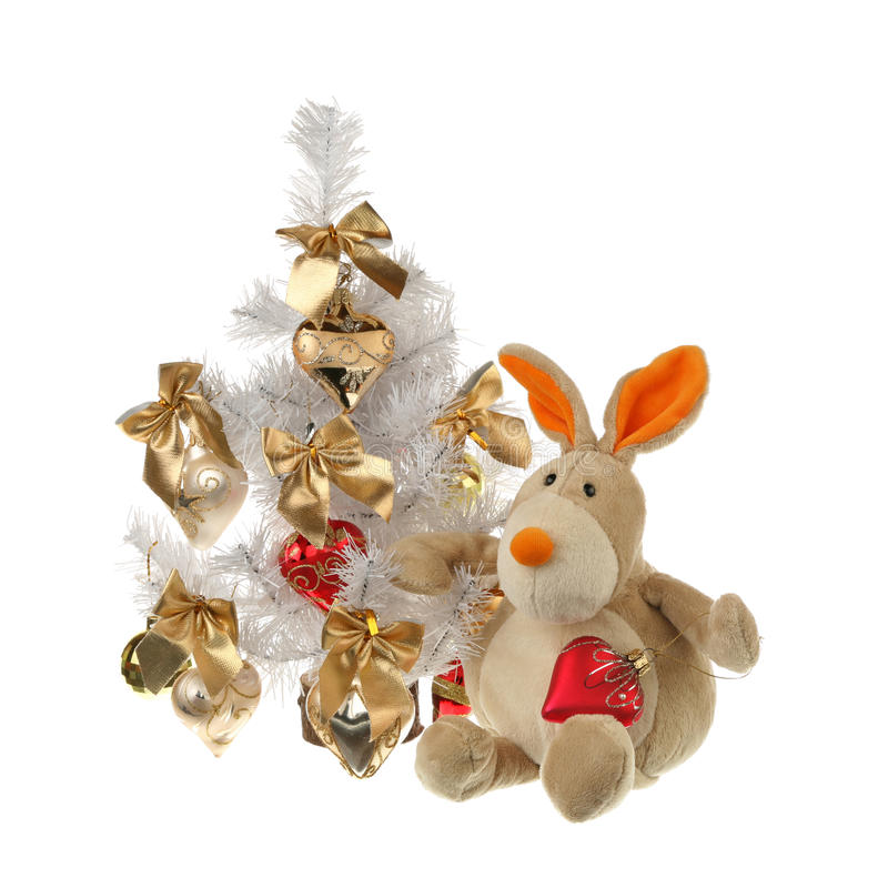 Download Hare with a fur-tree stock image. Image of christmas - 17568301