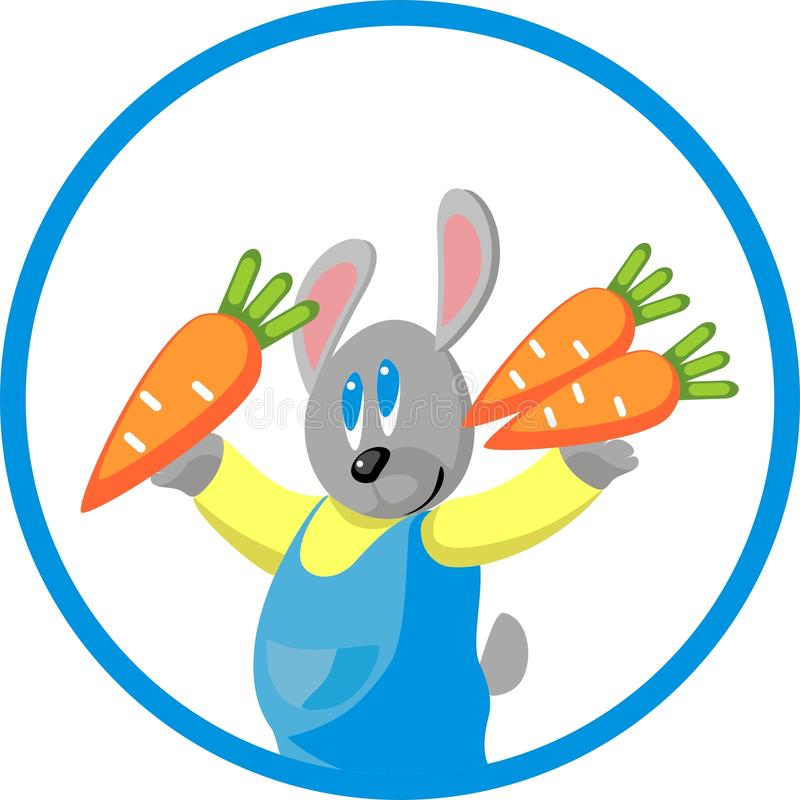 Hare Gift Carrot In Color 10 Stock Images