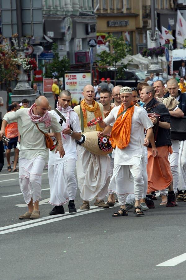 Hare Krishna demonstration royalty free stock image
