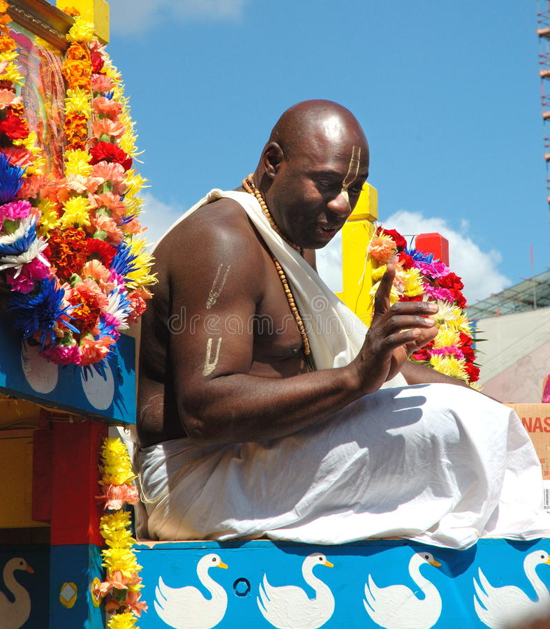 Hare Krishna Festival royaltyfria bilder