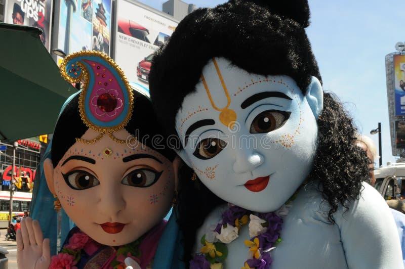 Hare Krishna Rally. royaltyfri fotografi
