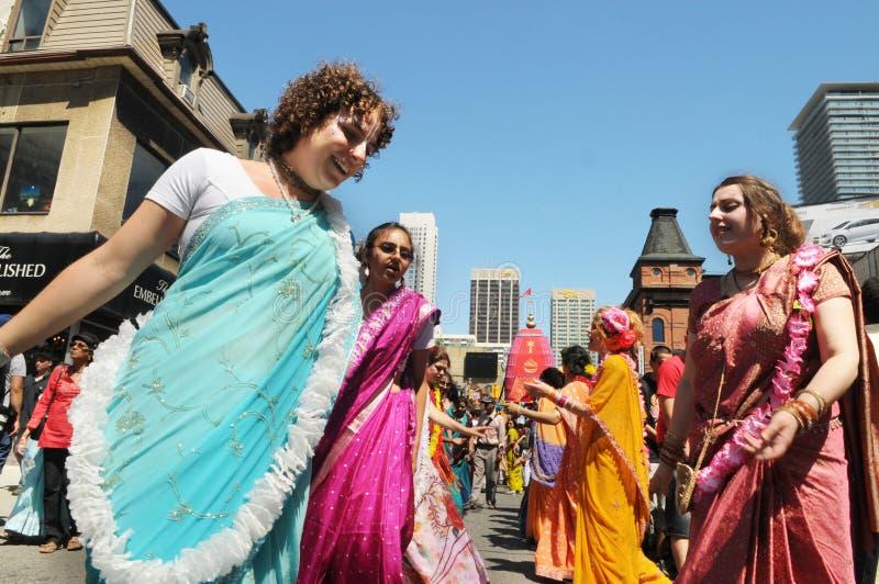 Hare Krishna Rally. arkivbild