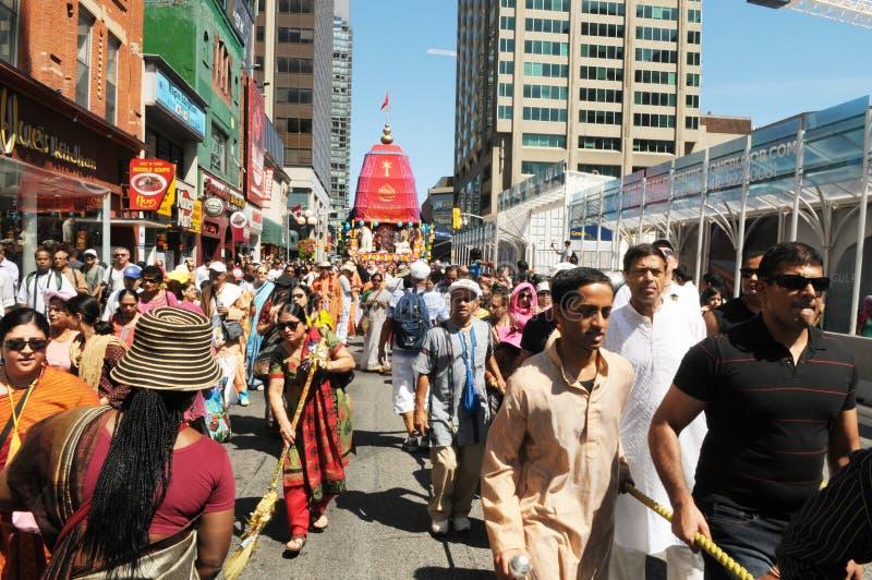 Hare Krishna Rally. royaltyfria bilder