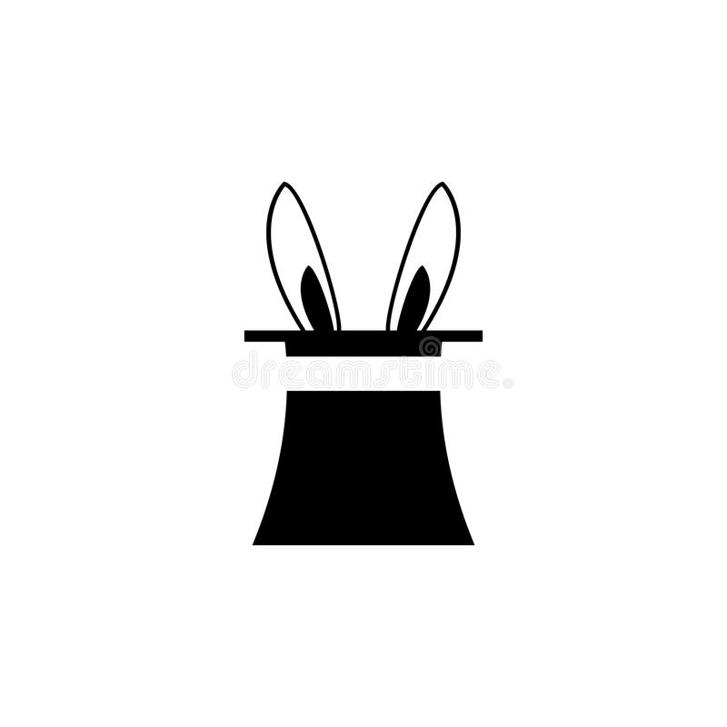 hare in the magician's hat icon. Elements amusement park concept and web apps. Icon for website design and development, app devel stock illustration
