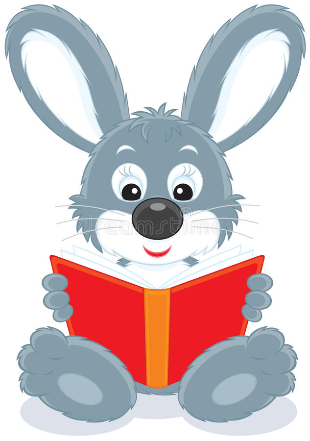 Download Hare reading a book stock vector. Illustration of nature - 22896016