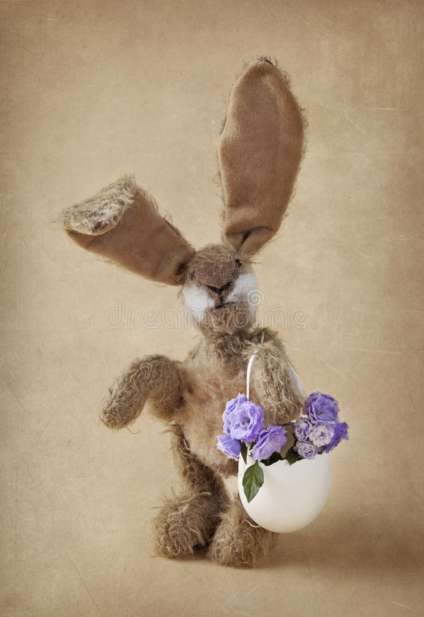 Download Hare toy stock image. Image of bunny, handmade, brown - 28926097