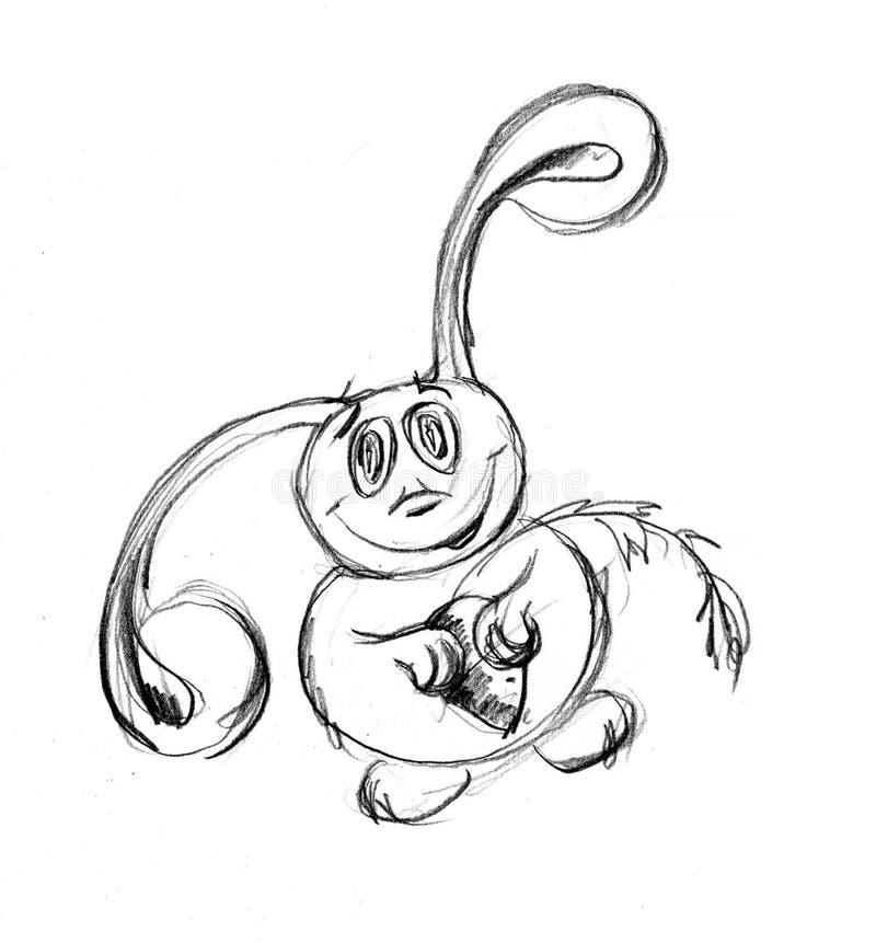 Hare on white background royalty free illustration