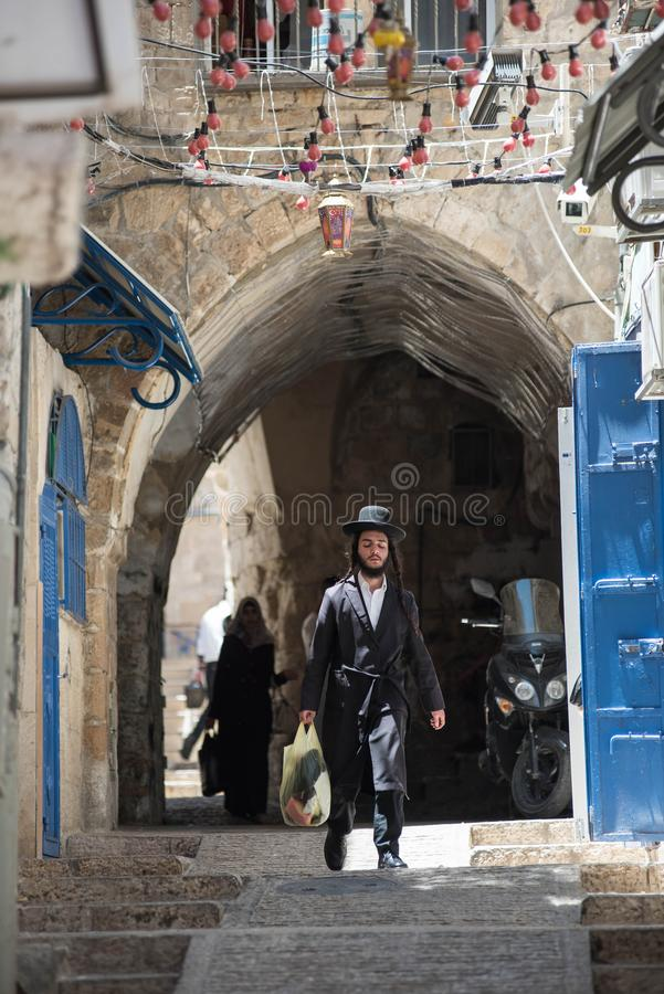 Haredi εξαιρετικά ορθόδοξος Εβραίος στη Mea Shearim στοκ εικόνες