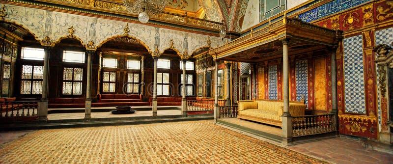 Harem i den Topkapi slotten, Istanbul, Turkiet royaltyfria foton