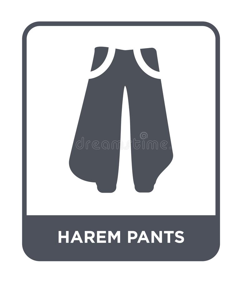 Harem pants icon in trendy design style. harem pants icon isolated on white background. harem pants vector icon simple and modern. Flat symbol for web site vector illustration