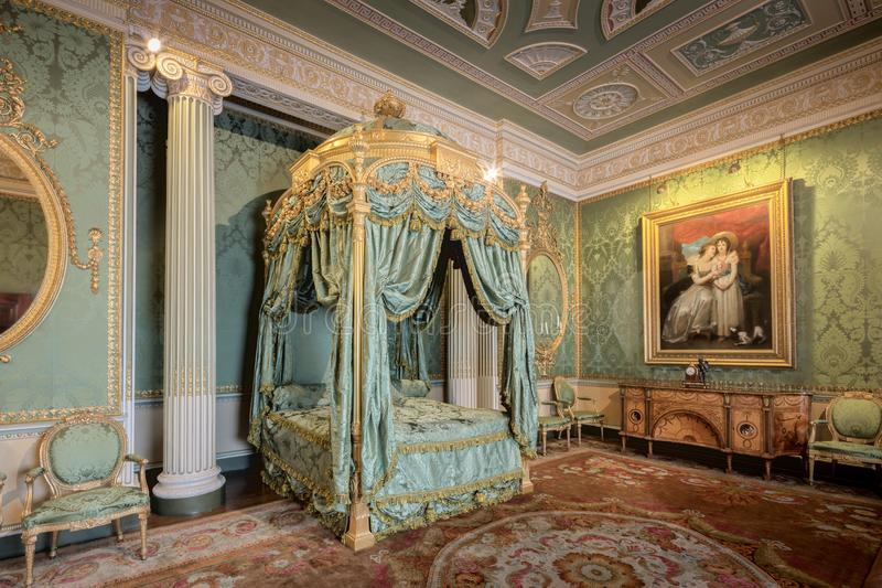 Harewood House The State Bedroom stock image