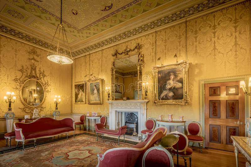 Harewood House The Yellow Drawing Room royalty free stock photography