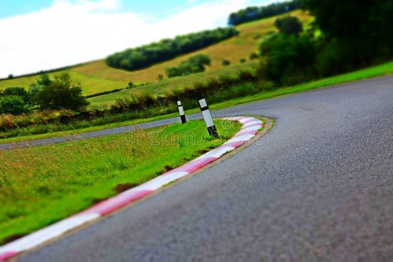 Harewood Race Track Chevron Corner royalty free stock images