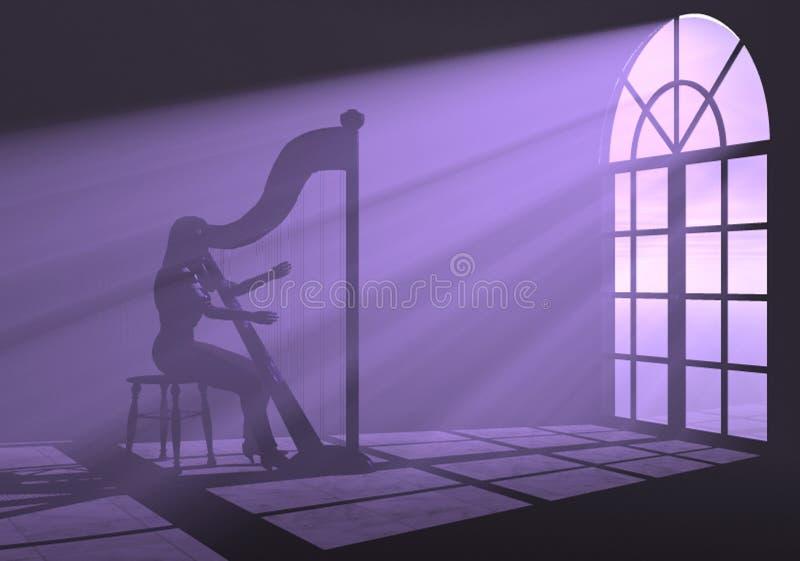 Harfe stockfoto