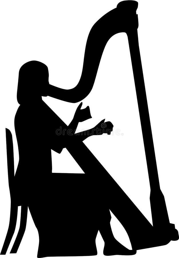 Harfenspielermusik stock abbildung
