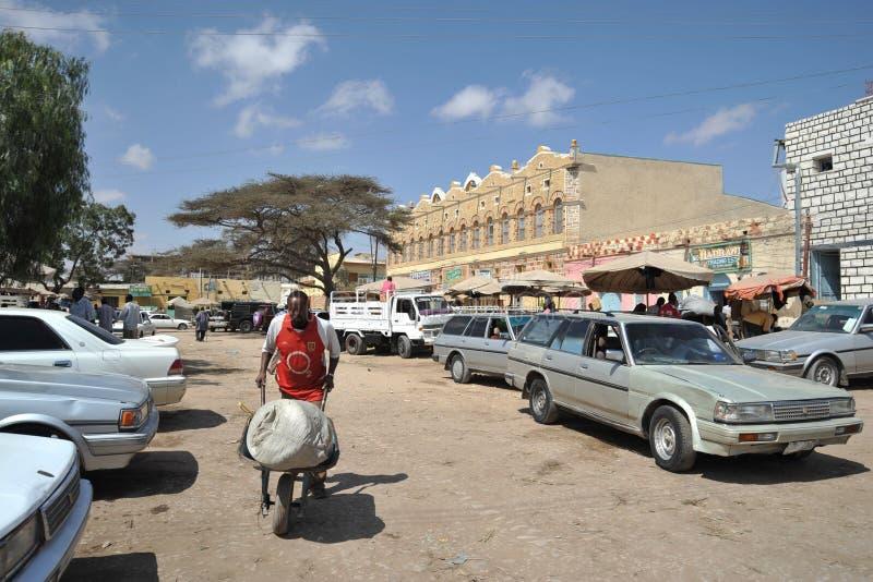 Hargeisa is een stad in Somalië stock afbeeldingen
