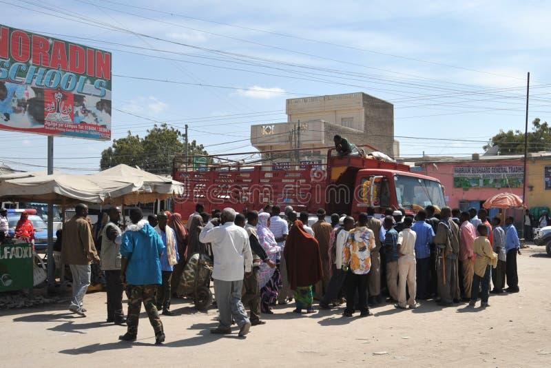 Hargeisa is een stad in Somalië stock foto's