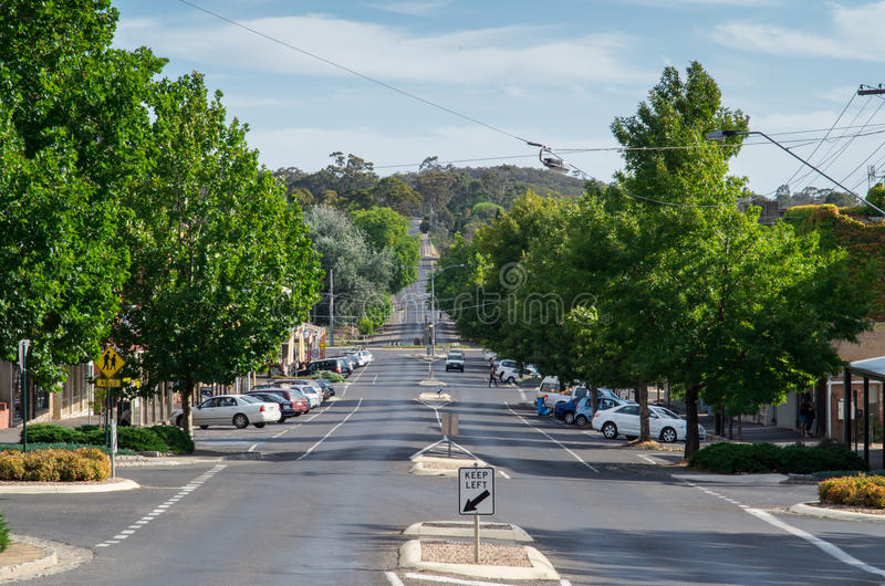 Hargraves Street in Castlemaine royalty free stock photos