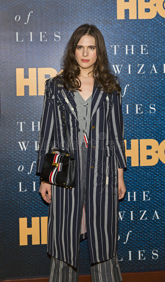 Hari Nef. Actor/model transgender female Hari Nef arrives for the New York City premiere of `The Wizard of Lies,` at the Museum of Modern Art MOMA on May royalty free stock photography