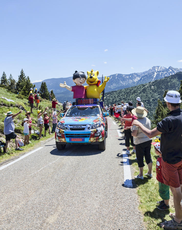 Haribo Car In Pyrenees Mountains Editorial Stock Photo