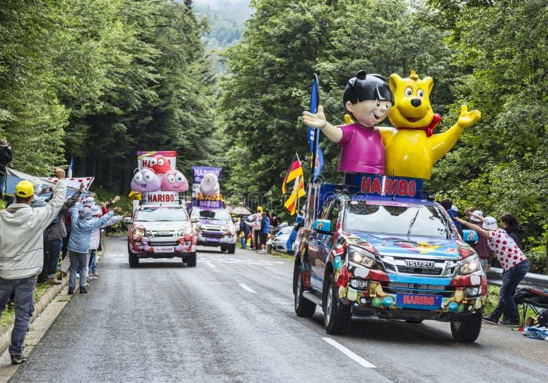 Haribo pojazdy obraz royalty free