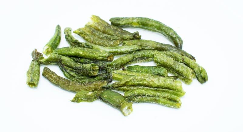 Haricot commun sec sur le fond - nourriture saine de légume fruit images stock