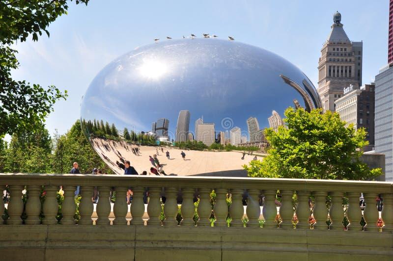 Haricot et réflexions de Chicago image libre de droits