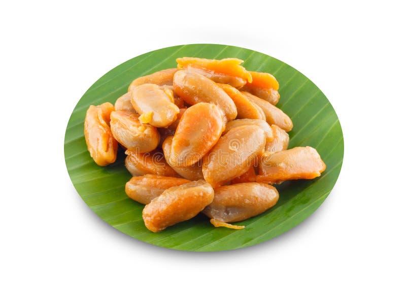Haricot-pâte, dessert traditionnel thaïlandais image libre de droits