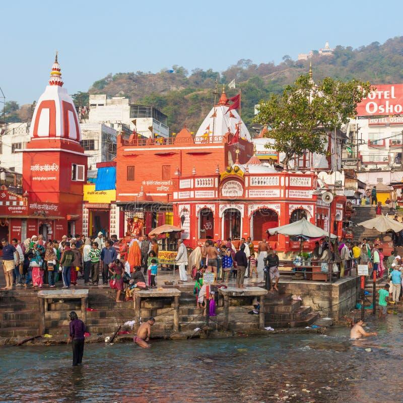 Haridwar dans l'Inde image libre de droits