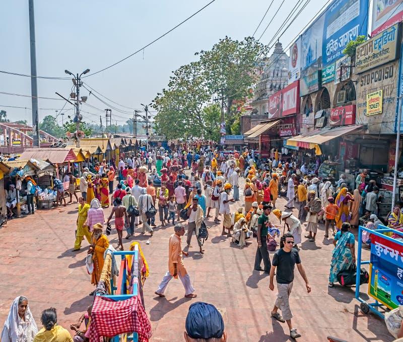 Haridwar folkmassa royaltyfri foto