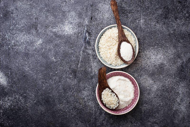 Harina de arroz libre del gluten foto de archivo