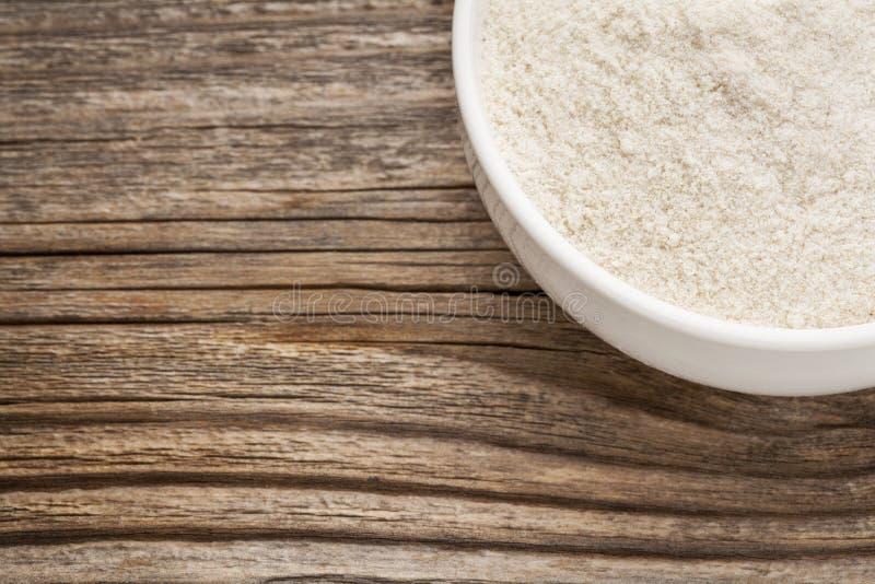 Harina libre del arroz moreno del gluten foto de archivo libre de regalías