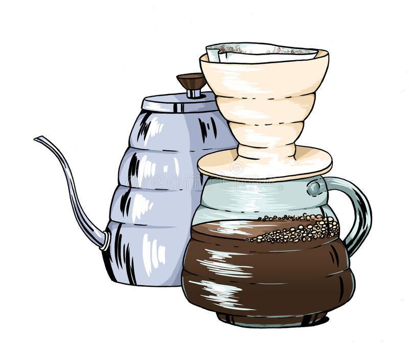 Hario-Kaffee lizenzfreie abbildung