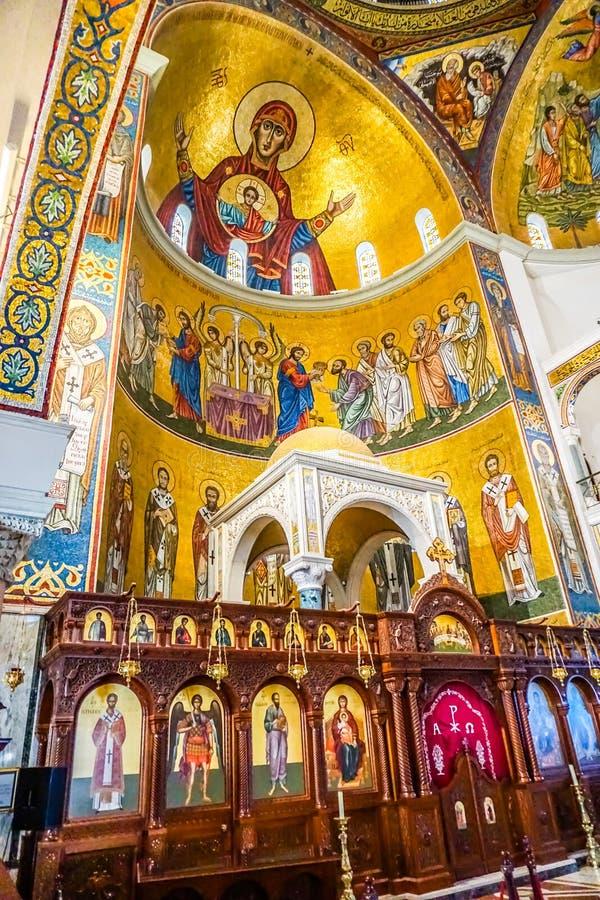 Harissa Our Lady of Lebanon 17. Harissa Our Lady of Lebanon Marian Shrine Pilgrimage Site Saint Paul Basilica Iconostasis stock images