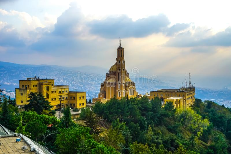 Harissa unsere Dame vom Libanon 10 lizenzfreie stockfotografie