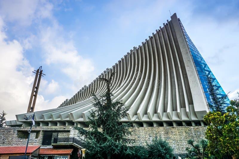 Harissa vår dam av Libanon 03 arkivfoto