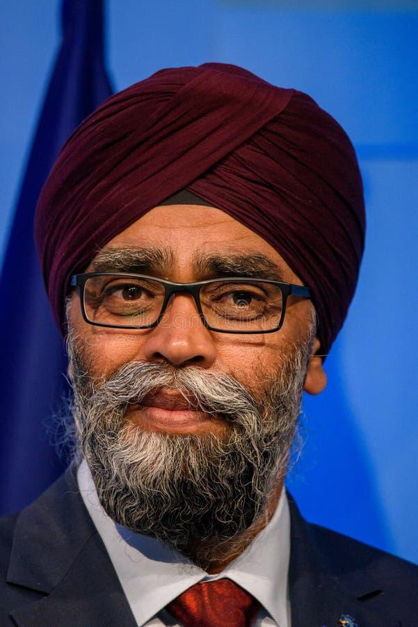 Harjit Singh Sajjan, Ministre de la Défense de Canada photos stock