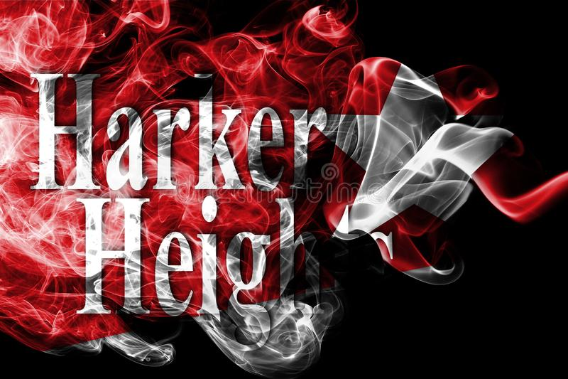 Harker-Höhenstadt-Rauchflagge, Texas State, die Vereinigten Staaten von Amerika lizenzfreies stockbild