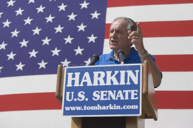 harkin Iowa s senator Tom u fotografia royalty free